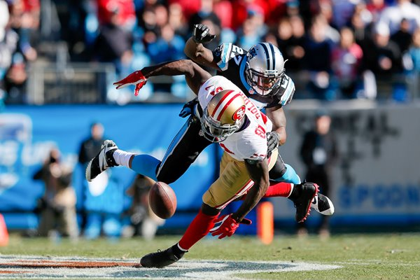 Anquan Boldin & Quintin Mikell 49ers v Panthers 2014