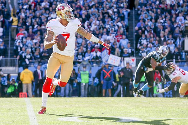 Colin Kaepernick San Francisco 49ers Quarterback playoffs 2014