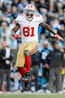 Anquan Boldin #81 of the San Francisco 49ers playoffs 2014