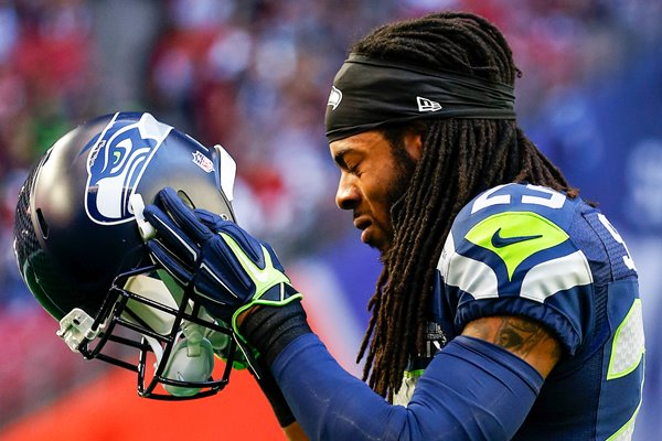 Richard Sherman Seahawks v Patriots Glendale 2015