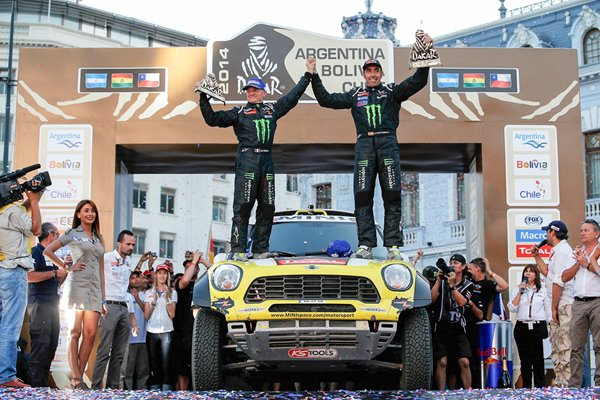 Nani Roma Michel Perin 2014 Dakar Rally Winners