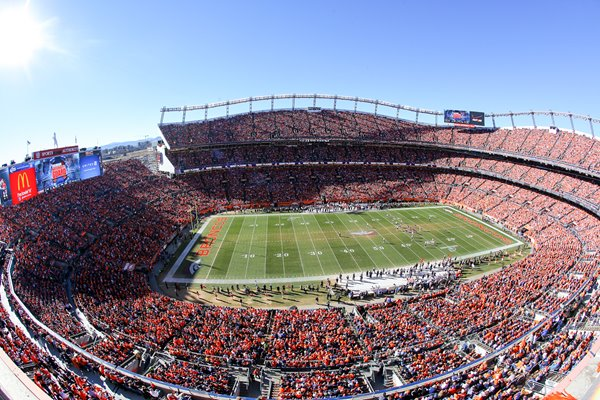 Mile High Stadium Home of Denver Broncos AFC Championship 2014