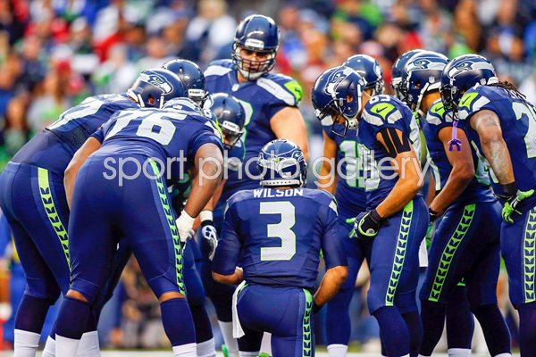 Russell Wilson Seattle Seahawks Championship Game 2014