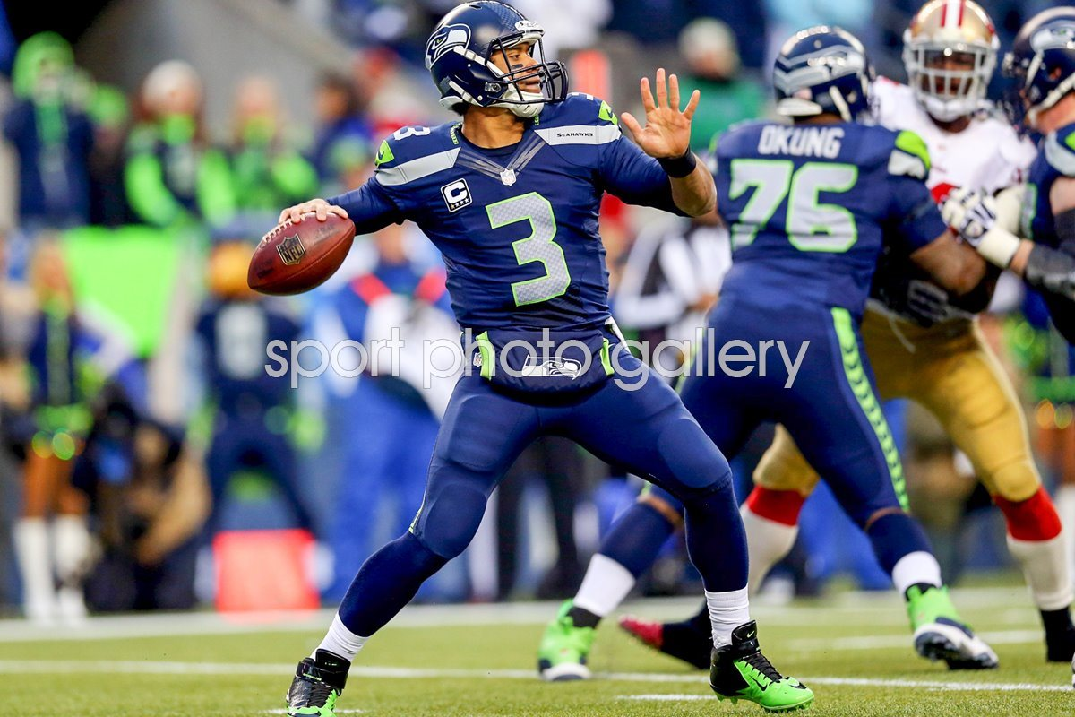 Russell Wilson Seattle Seahawks Quarterback NFC Championship 2014
