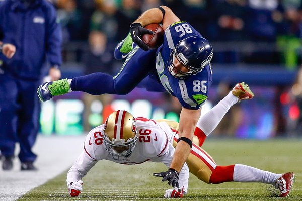 Zach Miller Seattle Seahawks Tight End Championship Game 2014