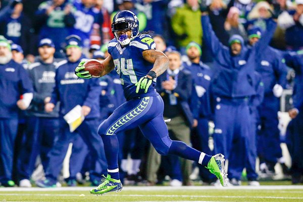 Marshawn Lynch Seattle Seahawks NFC Championship 2014