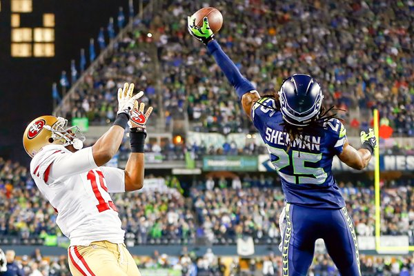 Richard Sherman Seattle Seahawks NFC Championship 2014