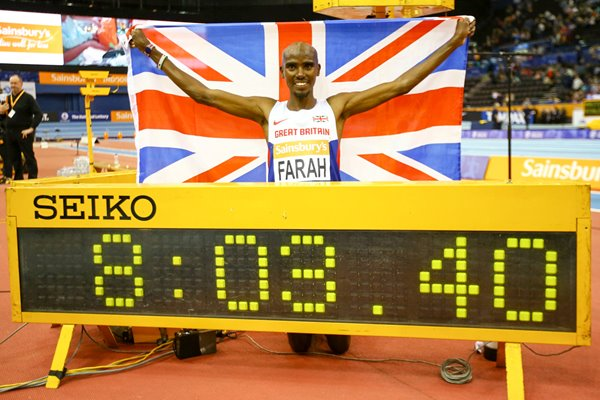 Mo Farah Breaks World Record 2015