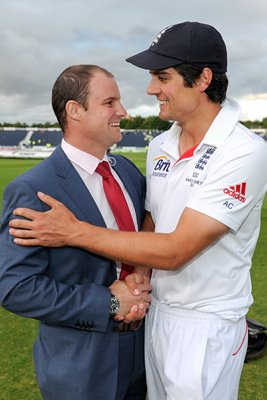 Ashes Winning Cricket Captains Strauss and Cook