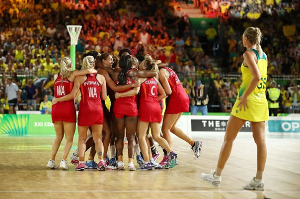 England netball Commonwealth Gold 2018