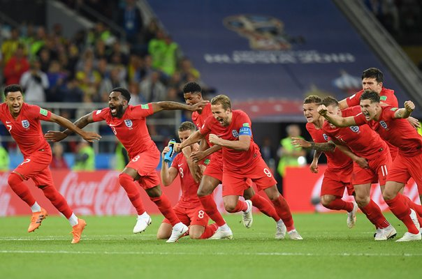 England win on penalties versus Colombia, July 2018