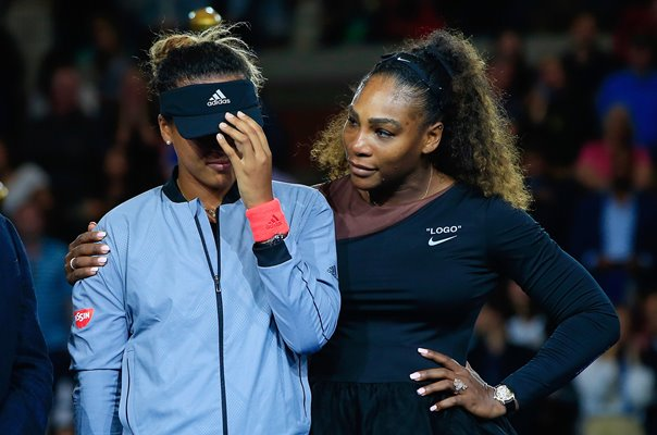 Naomi Osaka comforted by Williams following US Open win 2018