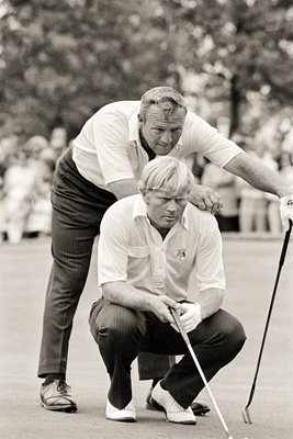 Arnold Palmer and Jack Nicklaus at Ryder Cup 1971