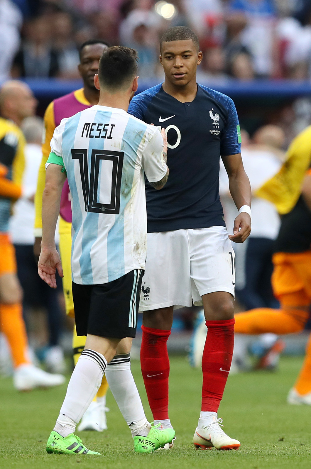 Mbappe and Messi at Russian World Cup 2018