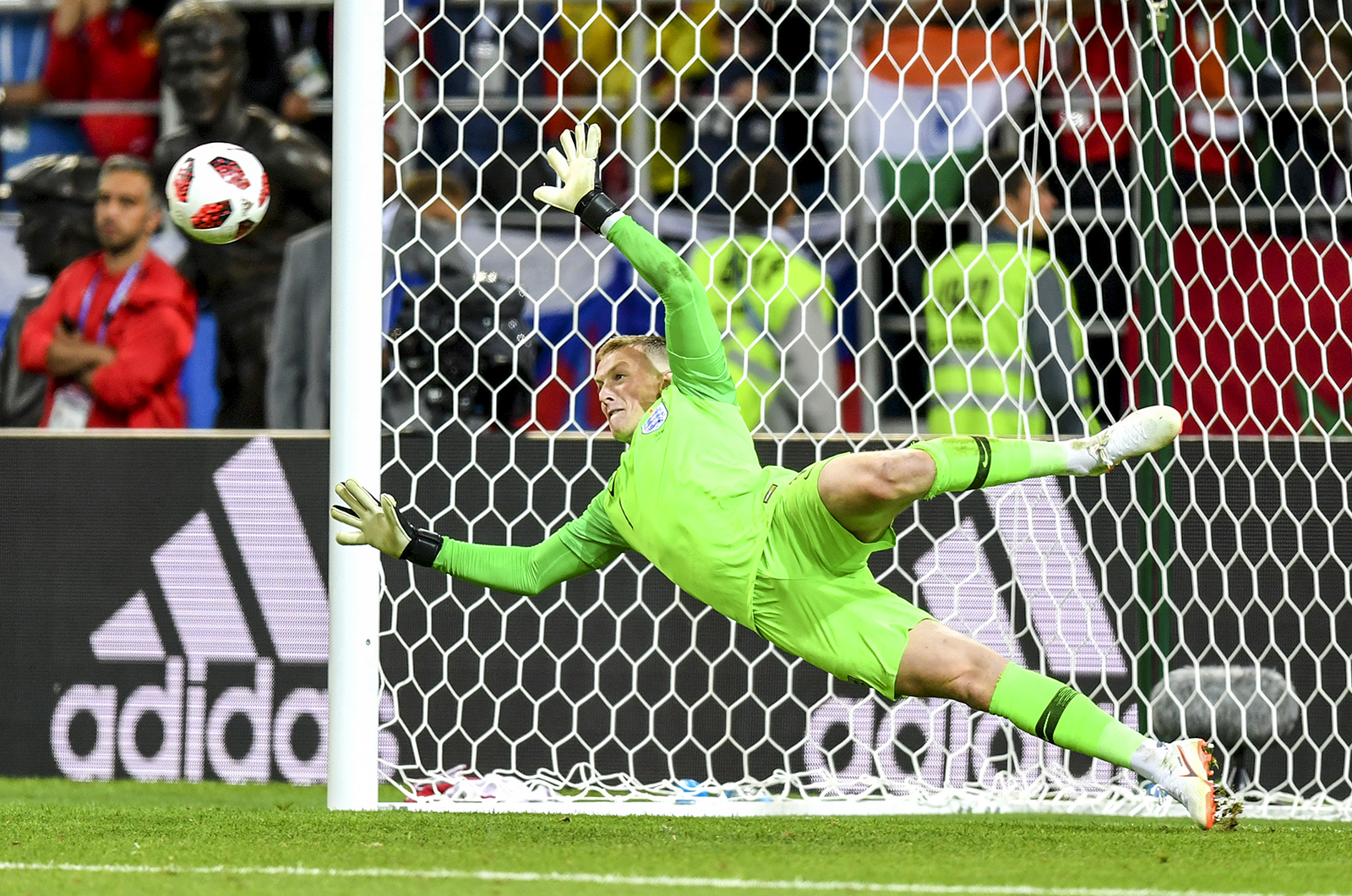 Jordan Pickford Saves Penalty for England at World Cup 2018