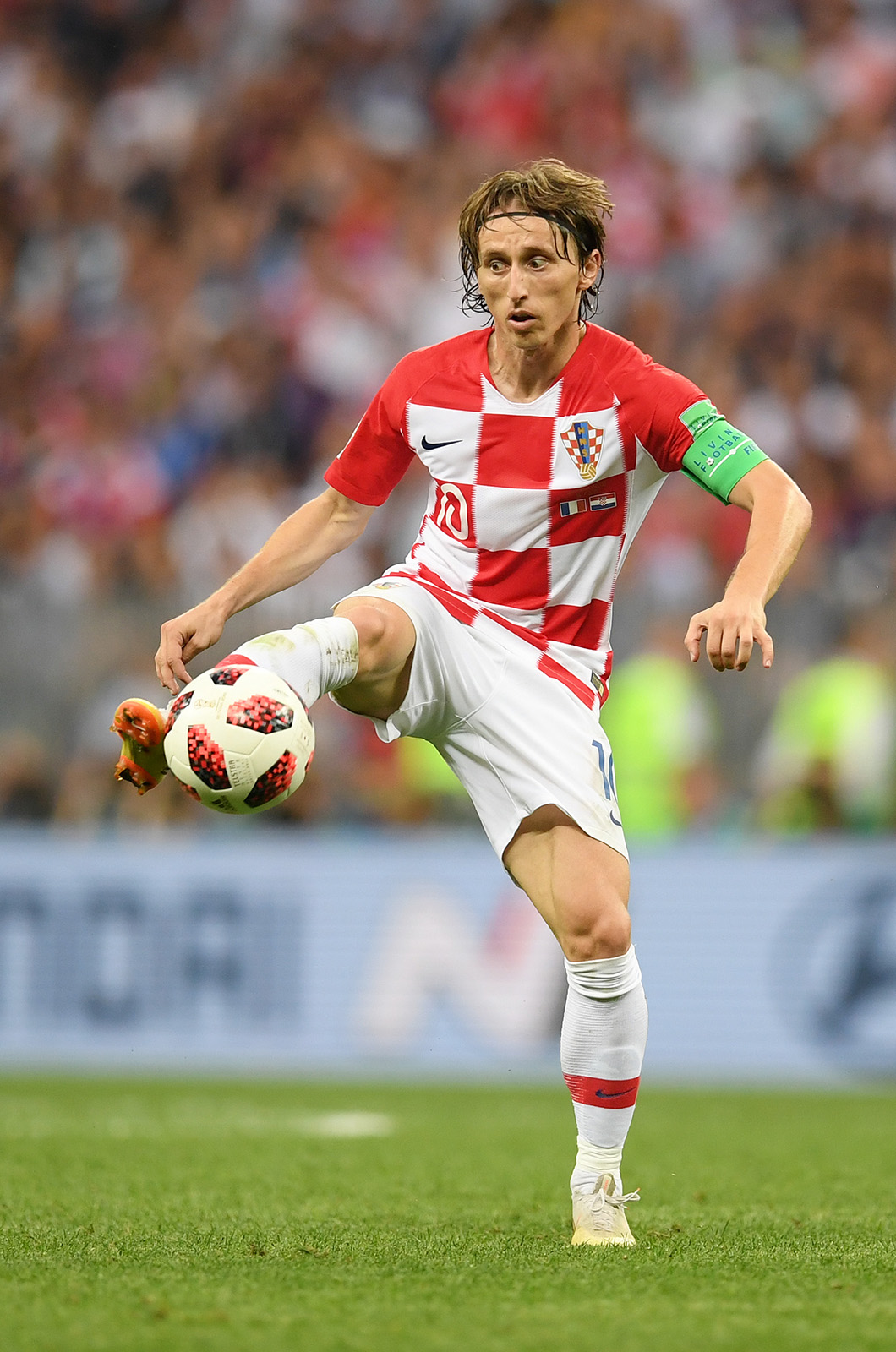 Luka Modric of Croatia Russain World Cup Player of the Tournament