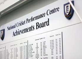 National Cricket Performance Centre, Loughborough University - Framed Prints Achievement Wall