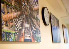 Schools Interior Design: Dibond Pictures in the Physics Classrooms at Harrow School