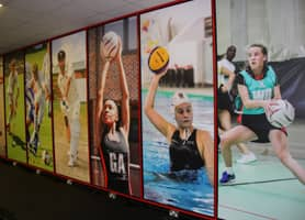 Schools Interior Design: Alleyn´s School Gym - Vinyl Window Graphics