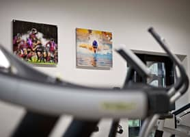 Sports Clubs Interior Design: Acrylics Examples at Harrow School Sports Centre Gym