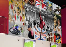 HQ Sports Bar, Dunstable - Bespoke Wallpaper Collage